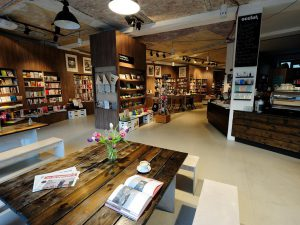 best bookstore cafe combinations berlin